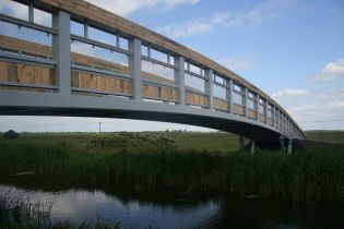 Vierendeel Truss cycle bridge, Wicken Fen - Ref 3394