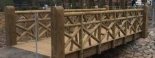 Ornamental Rustic Bridge at Lightwoods Park - ref 4200