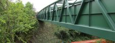 Warren Truss Multi Use bridge over Railway in Tamworth