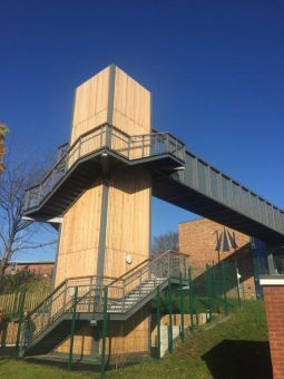 Bridge and Stairs at Dixons Trinity Academy, Leeds - Ref 4658