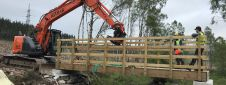 New Cycle Bridge on Affric Kintail Way, Inverness-shire