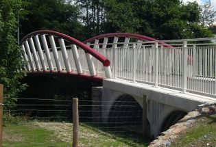 Devon; Bow String Truss Footbridge