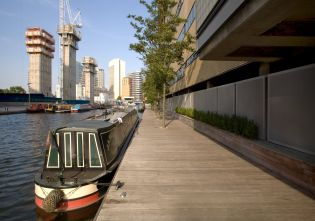 Paddington Basin; Decked Platform