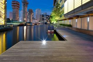 Paddington Basin; Deck at Night